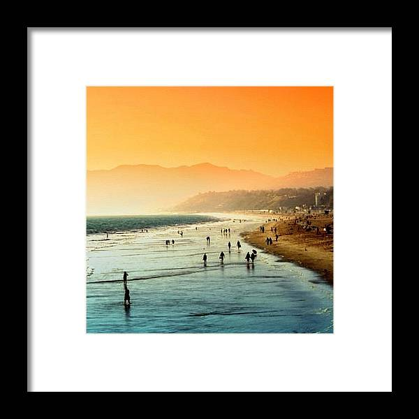 Beautiful Framed Print featuring the photograph Santa Monica Beach by Luisa Azzolini