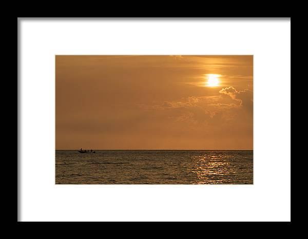 Sunset Framed Print featuring the photograph Sunset by Estelita Asehan