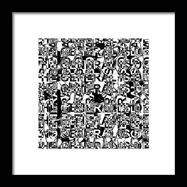 Digital Art Framed Print featuring the digital art Untitled by Aref Nammari