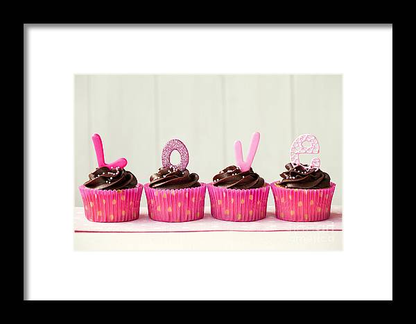 Cupcake Framed Print featuring the photograph Valentine Cupcakes by Ruth Black