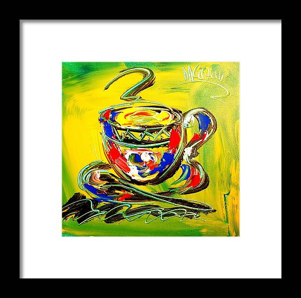 Framed Print featuring the mixed media Coffee by Mark Kazav