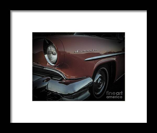 Low Rider Framed Print featuring the photograph 55 Lincoln Capri by Chuck Re
