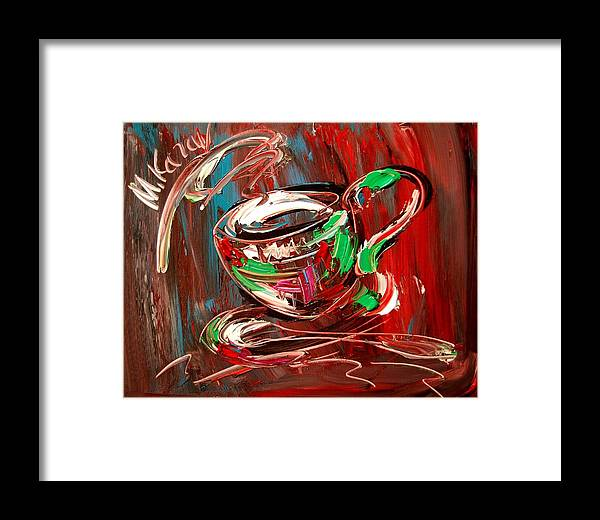 Framed Print featuring the mixed media Coffee by Mark Kazav