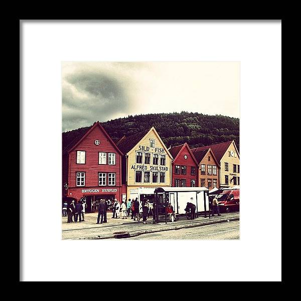 Beautiful Framed Print featuring the photograph Bergen by Luisa Azzolini