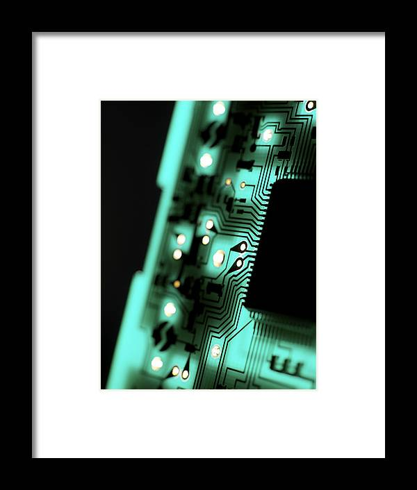 Equipment Framed Print featuring the photograph Circuit Board by Tek Image