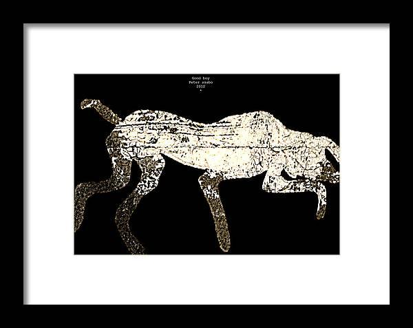 Dog Framed Print featuring the digital art Good Boy - 2012 by Peter Szabo