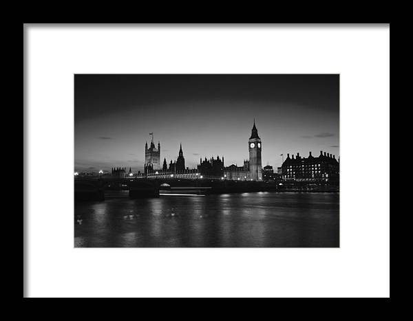 Edf Eye London Eye City Hall On The Sounthbank Of The Thames London's Tourist Attractions Framed Print featuring the photograph London Skyline Big Ben by David French