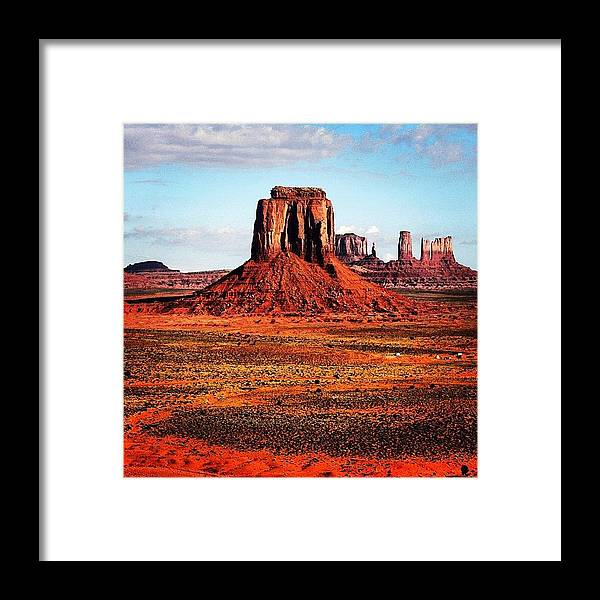 Monumentvalley Framed Print featuring the photograph Monument Valley by Luisa Azzolini