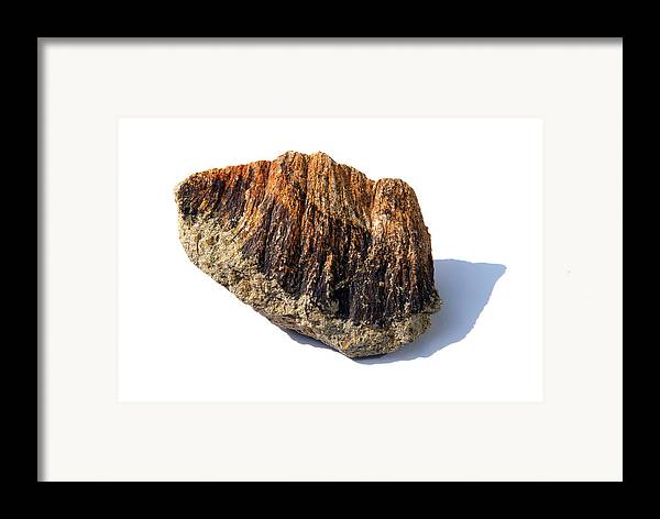 Shatter Cone Framed Print featuring the photograph Rock From Meteorite Impact Crater by Detlev Van Ravenswaay