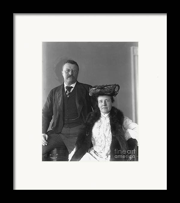 1902 Framed Print featuring the photograph Theodore Roosevelt by Granger