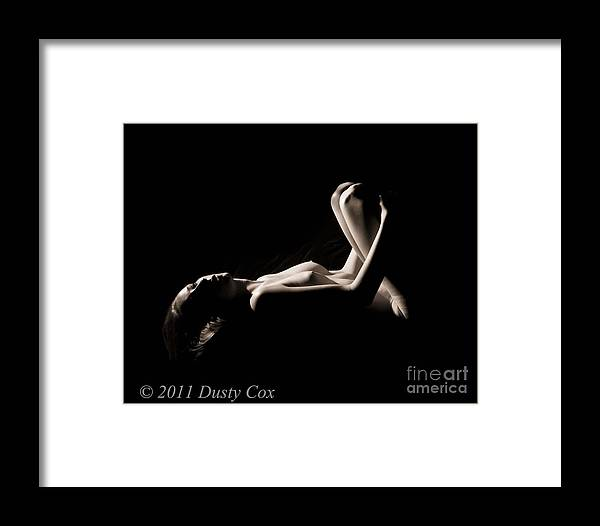 Black And White Framed Print featuring the photograph Nicole by Dusty Cox