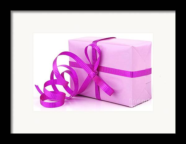 Gift Framed Print featuring the photograph Pink Gift by Blink Images