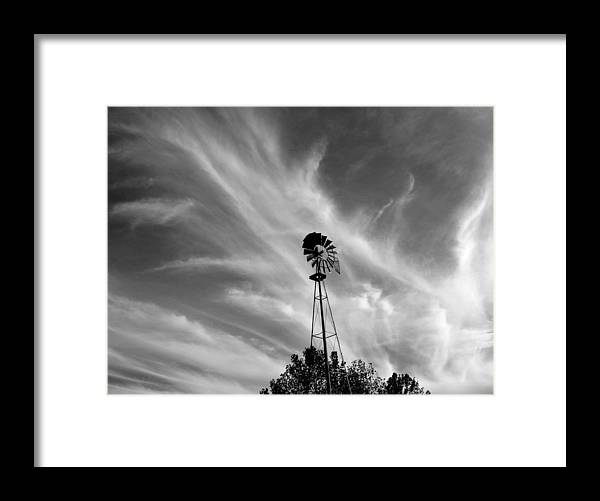 Windmill Framed Print featuring the photograph Texas Windmill by Mike Witte