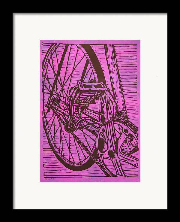 Bike Framed Print featuring the drawing Bike 3 by William Cauthern