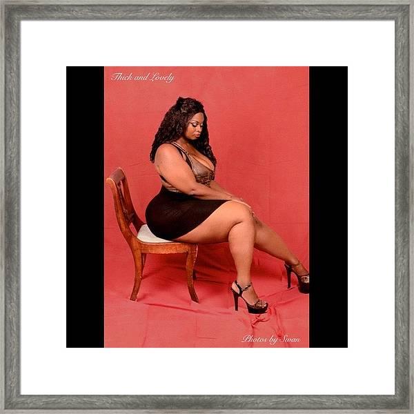 Beautiful Framed Print Featuring The Photograph Girl Girls Love Bbw Photoshoot