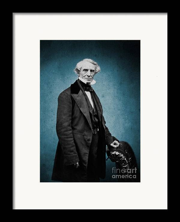 Science Framed Print featuring the photograph Samuel Morse, American Inventor by Science Source