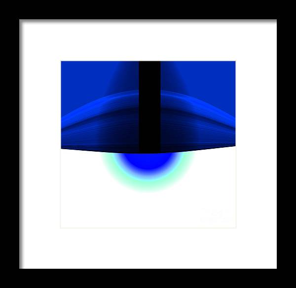 Framed Print featuring the digital art The Lamp by Mihaela Stancu