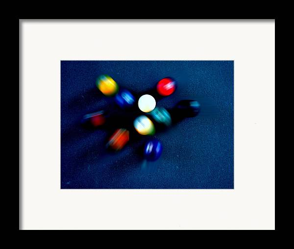 Pool Framed Print featuring the photograph 9 Ball Break by Nick Kloepping
