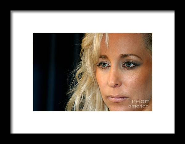 Young Framed Print featuring the photograph Blond Woman by Henrik Lehnerer