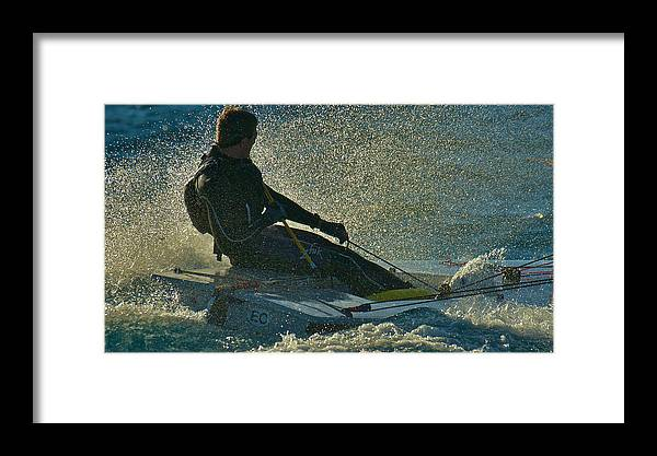 Lake Tahoe Framed Print featuring the photograph Lake Tahoe Sailboat Racing by Steven Lapkin