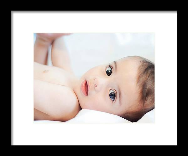Baby Framed Print featuring the photograph 9 Meses by Sibila Lucia