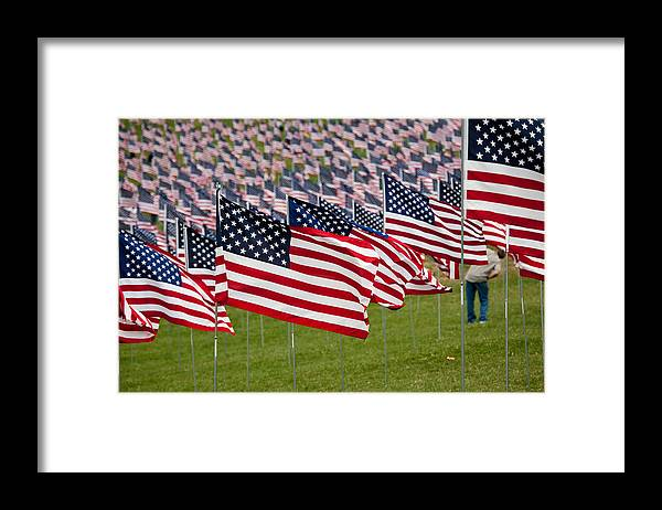 911 Framed Print featuring the photograph 911 Memorial 1 by Mark Braun