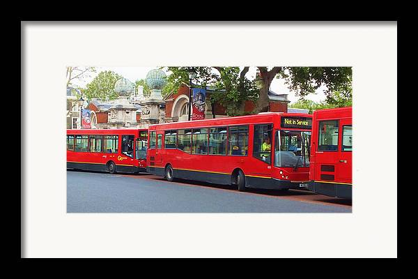 Buses Framed Print featuring the photograph A Bevy Of Buses by Anna Villarreal Garbis