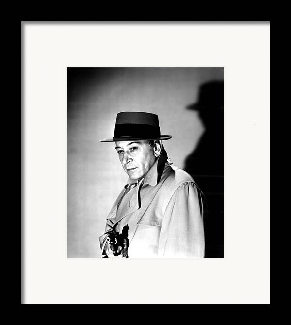 1950s Movies Framed Print featuring the photograph A Bullet For Joey, George Raft, 1955 by Everett