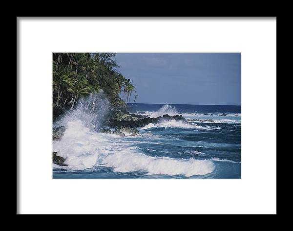 Pacific Islands Framed Print featuring the photograph A Coastal View Of The Southeast Corner by George F. Mobley