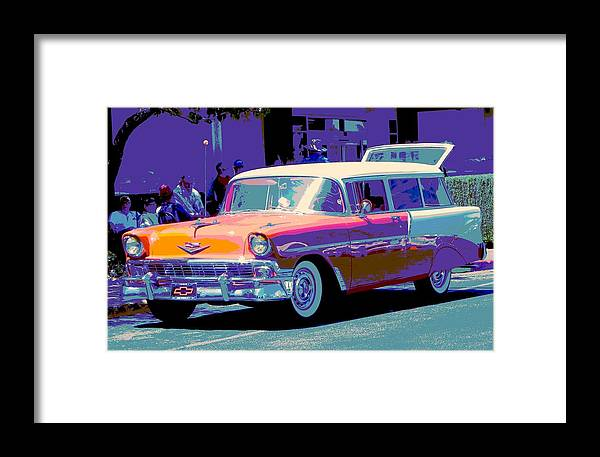 Cars Framed Print featuring the photograph A Cool Spring Evening by Chuck Re