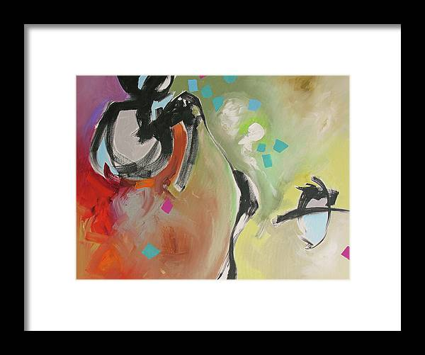 Painting Framed Print featuring the painting A Day Filled With Surprises by Linda Monfort