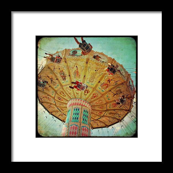 Retro Carnival Ride Framed Print featuring the photograph A Day In June by Sharon Kalstek-Coty