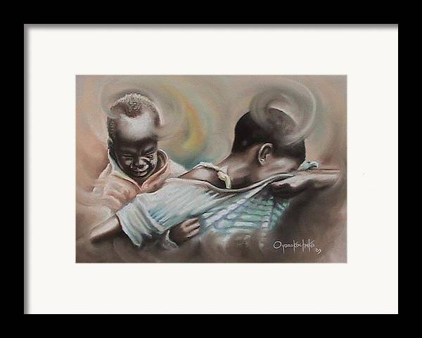Painting Framed Print featuring the painting A Day To Remember by Oyoroko Ken ochuko
