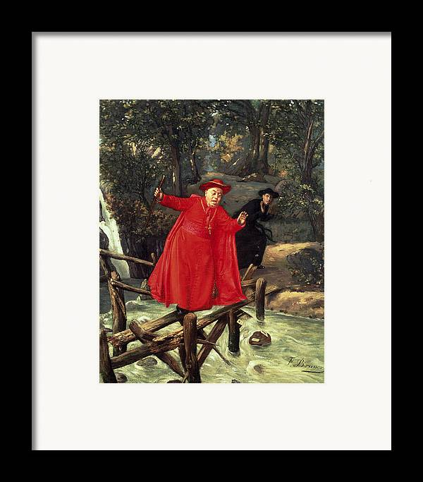 A Delicate Balance Framed Print featuring the painting A Delicate Balance by Francois Brunery