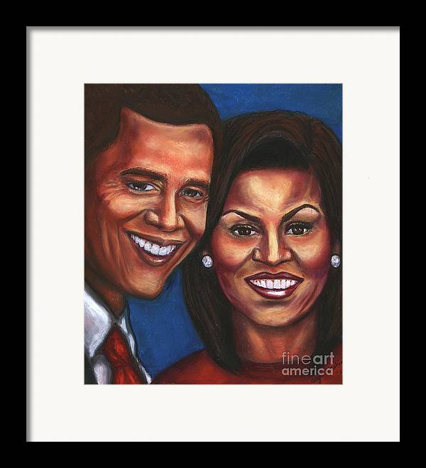 First Couple Framed Print featuring the mixed media A Dream Came True by Alga Washington