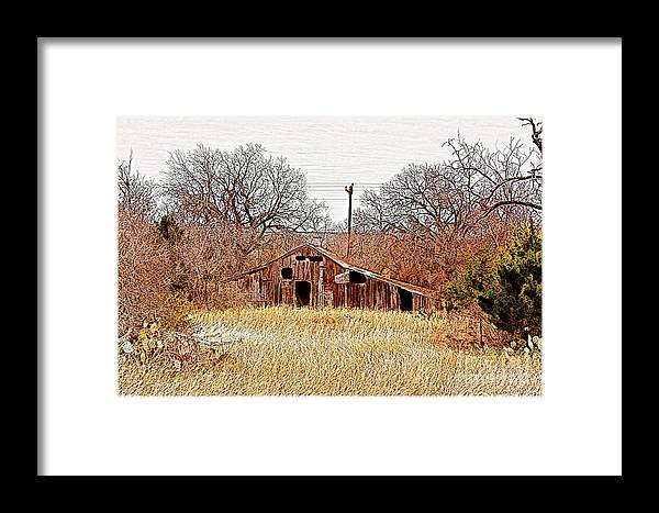 Photography Framed Print featuring the photograph A-frame Barn - No.745 by Joe Finney