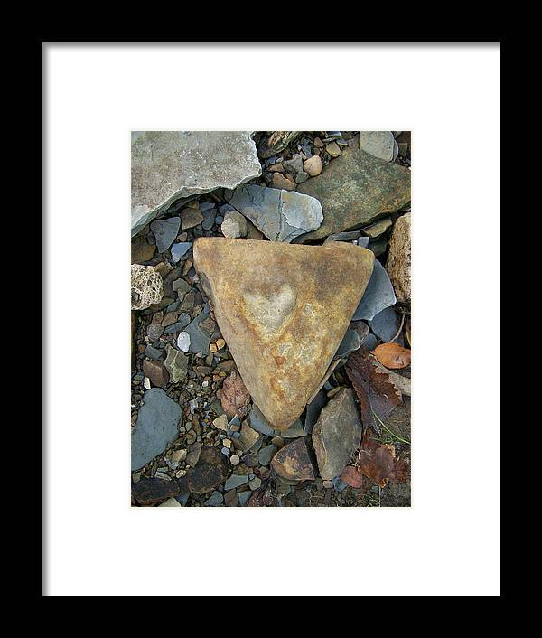 Rocks Framed Print featuring the photograph A Heart Of Stone by Natalie Long