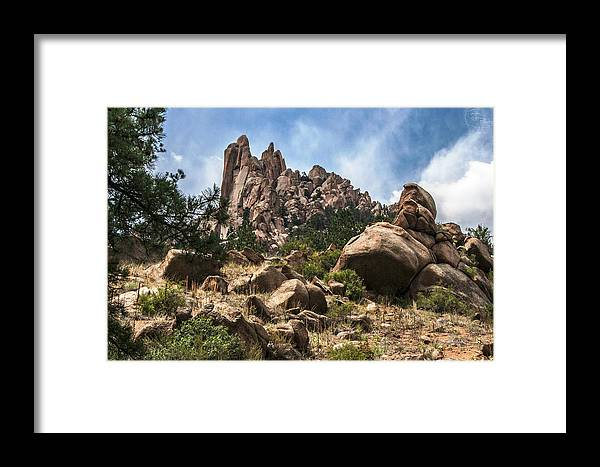 Mountains Framed Print featuring the photograph A Hop Skip And A Jump by Tejas Prints