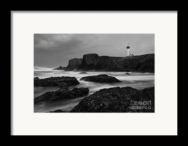 Water Photography Framed Print featuring the photograph A Light In The Storm by Keith Kapple