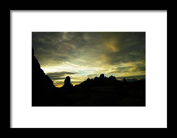 Rocks Framed Print featuring the photograph A Magic Moment by Jeff Swan