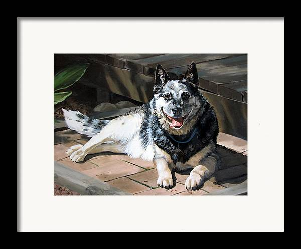Dog Framed Print featuring the painting A Man's Best Friend by Sandra Chase