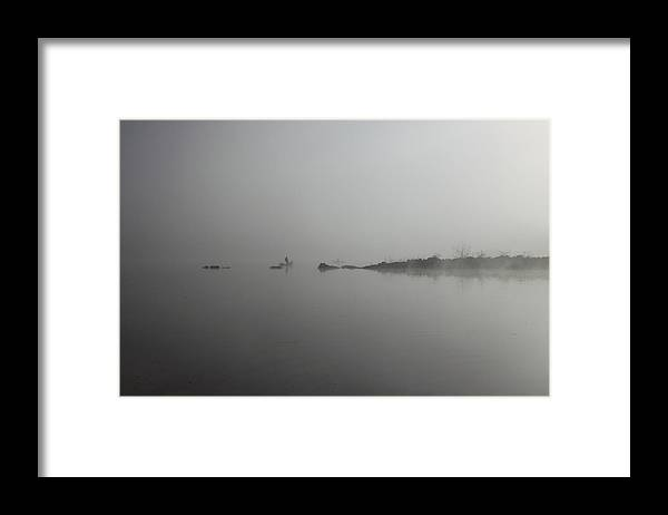 Lake Framed Print featuring the photograph A misty morning by Kean Poh Chua