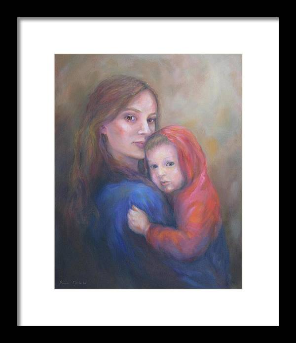 Portrait Framed Print featuring the painting A Moment In Time by Bonnie Goedecke