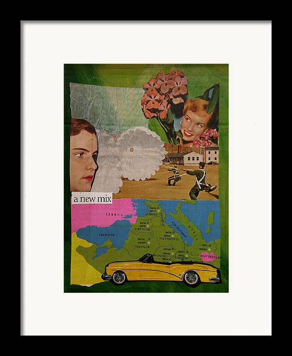 Mix Framed Print featuring the mixed media A New Mix by Adam Kissel