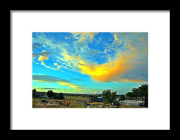 Framed Print featuring the photograph a piece of Heaven from backyard by Reza Mahlouji