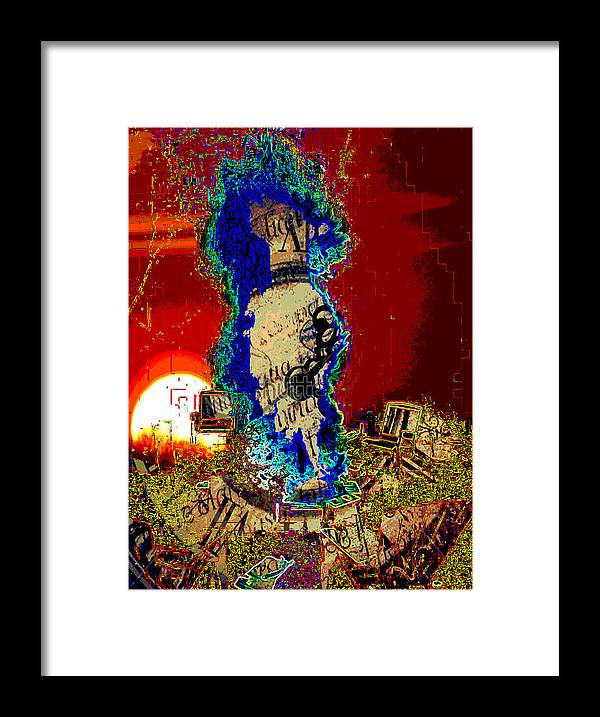 Miami Framed Print featuring the digital art A Rift In Time by Jimi Bush