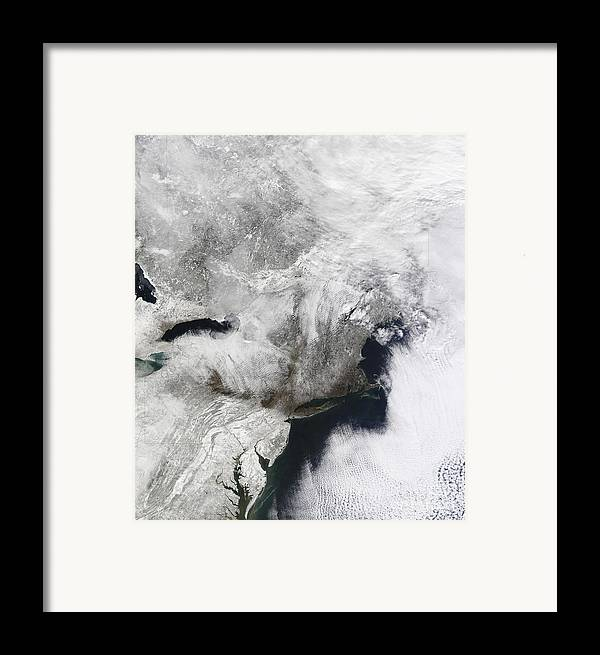 Snowmageddon Framed Print featuring the photograph A Severe Winter Storm by Stocktrek Images