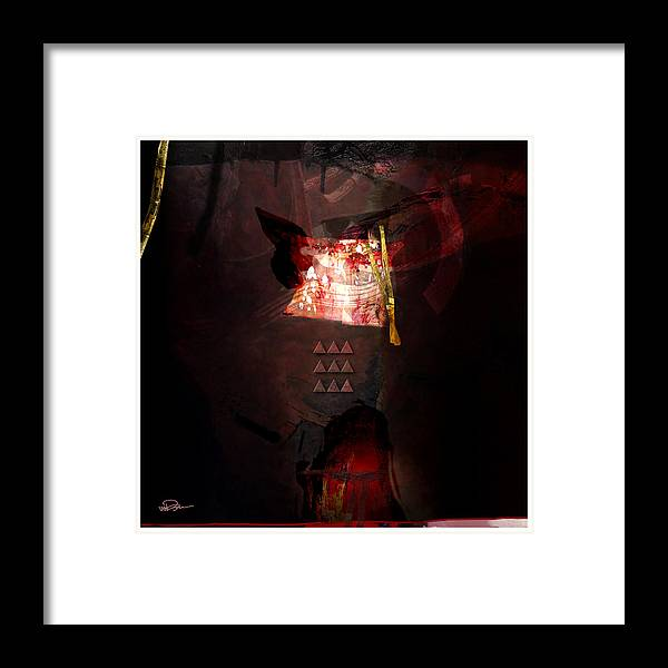 Abstract Framed Print featuring the digital art A Story Unfolds by James VerDoorn
