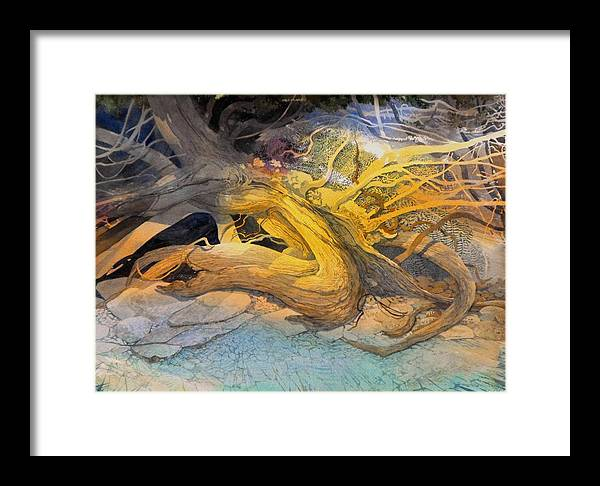 Landscape Framed Print featuring the painting A Tangled Past by Lin Souliere