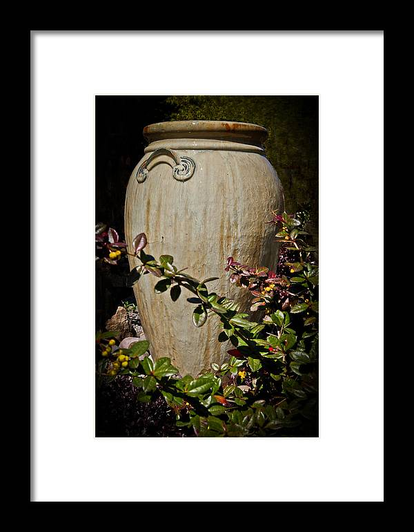 Vase Framed Print featuring the photograph A Taste Of Italy by Athena Mckinzie